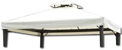 Hdcasa Telo di ricambio per Gazebo Top di Copertura Bianco con airvent Telo per Gazebo