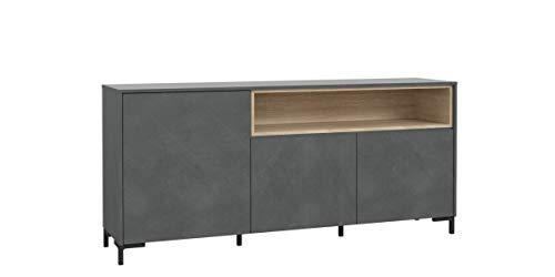 Furniture24 Kommode GALACTIQUE CNFK231, Wohnzimmerschrank, Sideboard, 3 Türen