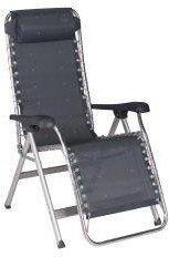 Holly® Gestoffeerde ligstoel - Stabielo - CRESPO - LUXE - traploos verstelbaar - HOOLENER met kokussen - GEWICHT - 6,25 kilo licht - aluminium stoel - STABIELO - exclusieve stoel met hoge rugleuning - kleur - ANTRACIET - 130 kilo belastbaar - distributie door - Holly® producten ELO - Innovaties made in Germany -