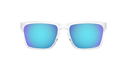 Oakley Unisex-Adult OO9448-0457 Sunglasses, POLISHED CLEAP/PRIZM SAPPHIRE, 57/17/142