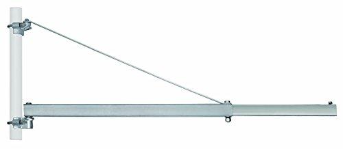 Einhell Schwenkarm SA 1100 (Montage ab 3 mm Wandstärke, 180° Grad schwenkbar, Ausladungsbelastung bei 750 mm bis 600 kg u. 1.100 mm bis 300 kg, inkl. Rohrmanschette für Stahlrohr Durchmesser 48 mm)