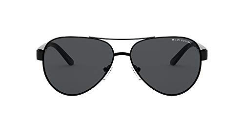 AX Armani Exchange Ax2034s - anteojos de sol para hombre, Negro / Gris, 59 mm