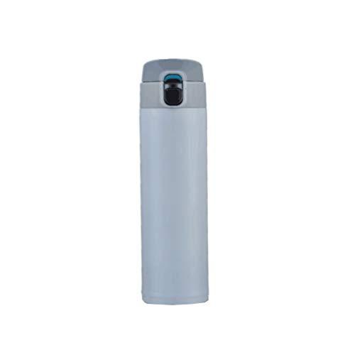 Roestvrij staal Water Drink Bottle vacuüm geïsoleerde Thermos Flesk Cup Tea Coffee wit