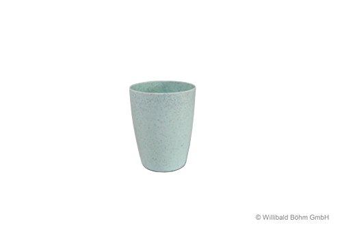 Zahnputzbecher, grün, gesprenkelt, Sonja-PLASTIC, Made in Germany