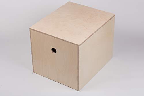 B.A.M. Montage Plyo Box, Sprungbox für Sprungkrafttraining, Jump Box, Sprungkasten aus Multiplex-Holz, Größe LxBxH 580mm x 480mm x 450mm