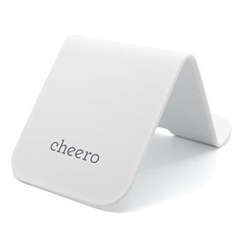 cheero CLIP Plus 万能 クリップ ボード シリコン スマホスタンド タブレットスタンド CHE-330 ホワイト