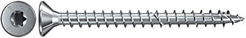 fischer Power-Fast FPF-ST 4,0 x 20 ZPF - Spanplattenschrauben mit Senkkopf und Vollgewinde zum Befestigen von allg. Holzverbindungen, blauverzinkt - 200 Stück - Art.-Nr. 652359