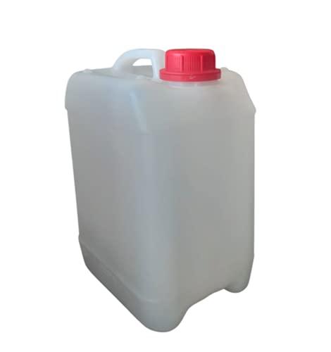 Garrafa bidón 5 litros Apilables Homologado ADR Transparente Boca Ancha Agua Gasolina químicos depósito Aire Acondicionado Camping Furgoneta Camper Transparente
