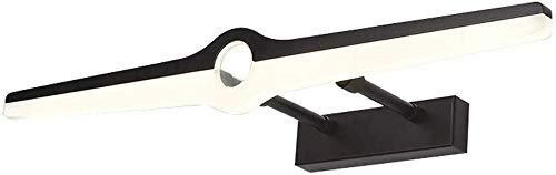 Spiegellamp LED spiegel make-up lamp vrijstaand badkamerlamp Rollsnownow (kleur: zwart, maat: 40 cm)