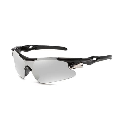 Yofundo Ciclismo Bicicleta Bicicleta Moda Gafas Protección Ciclismo Gafas Pesca Conducir Gafas Gafas Deportes Al Aire Libre Gafas de equitación (NEGRO BLANCO)