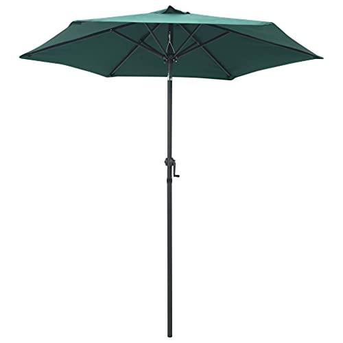 Famehours Parasol Verde 200x211 cm Aluminio