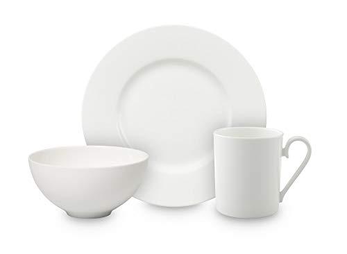 Villeroy & Boch Royal Ensemble petit-déjeuner pour 2 personnes, 6 pièces, Porcelaine Premium Bone, Blanc