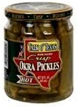 Talk O'Texas Crisp Okra Pickles, Hot, 16 oz (3 pack) by Talk O Texas