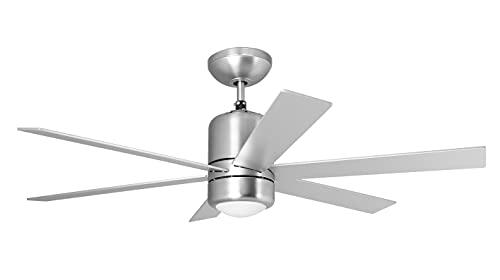Orbegozo CP 50120 - Ventilador de techo con luz y mando a distancia, 6 aspas, 120 cm de diámetro, potencia de 65 W, 3 velocidades