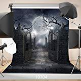 WOLADA Halloween Horror Night 10x10ft Vinyl Photography Backdrop Customized Photo Background Studio Prop 10704