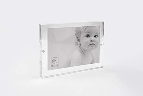 Mascagni Cornice 15 x 20 cm (per foto da 13x18 cm) in Plexiglass chiusura magnetica, trasparente, acrilico
