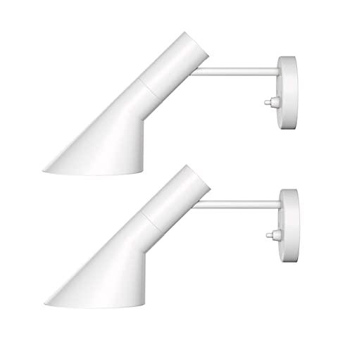 GYAM Aplique Moderno de Iluminación Pared Juego de 2, Lámparas de Pared Rústicas de Metal Industrial, Decoración de Lámpara de Pared de Dormitorio para Sala de Estar, Baño y Pasillo,Blanco