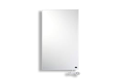 Infrarot Heizung mit Digitalthermostat 130, 300, 450, 600, 800, 1000 Watt Elektroheizung mit Stecker für Steckdose - 5 Jahre Herstellergarantie- Elektroheizung mit Überhitzungsschutz - Heizt nach dem Prinzip der Sonne - heizt im optimalen Wellenlängenbereich von 8-15µ - Sonnenheizung - Rahmenfarbe ist weiß
