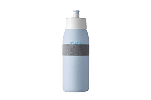 Mepal Ellipse Nordic Blue - Botella de agua deportiva (500 ml), color azul