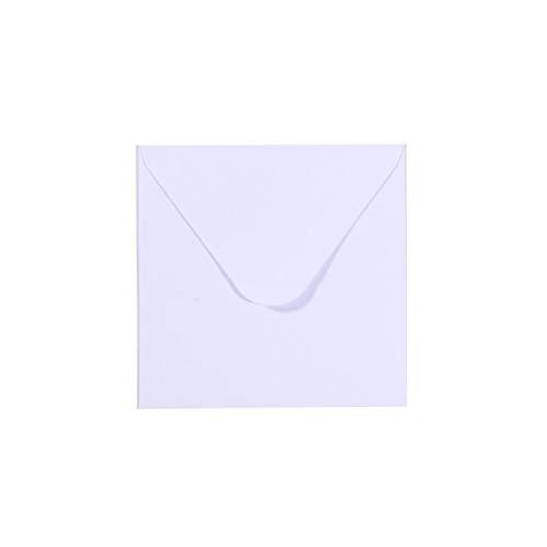 Vaessen Creative Florence Briefumschläge Quadratisch Klein Weiß, 5 Stück, für Geburtstagskarten, passende Faltkarten erhältlich