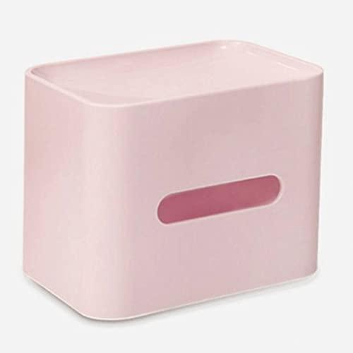 Boblen Caja de Tejido de Silicona Rectangular Rosa, Almacenamiento de Escritorio Creativo Impermeable y extraíble, Sala de Estar, Hotel, dispensador del Soporte de servilleta