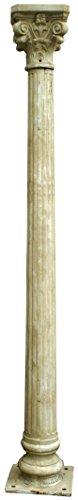 Biscottini Colonne en Fonte avec du chapiteau realisé en Finition Blanche veillie L36xPR36xH260 cm