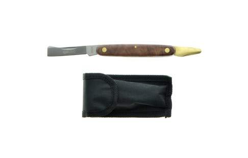 Cuchillo para injertar, con filo de paleta, navaja para huerto