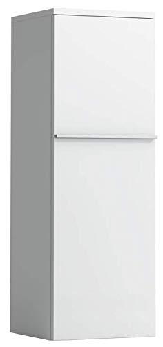 Lopende kast Halfhoge kast, deur rechts, met 2 glazen leggers, 1000x350x335, Kleur: Gekalkte eik - H4020120755191