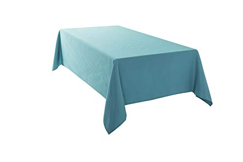 HIGHFLY Rechteckige Tischdecke aus Leinen, 152,4 x 213,3 cm, wasserdicht, himmelblau, Tischdecke für Esszimmer, Restaurant