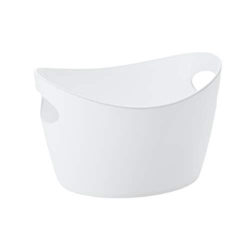 koziol Utensilo 270 ml Bottichelli XXS, Kunststoff, solid weiß, 9.8 x 12.3 x 7.8 cm