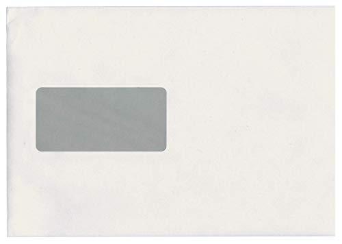 Idena 10228 - Versandtasche DIN C5, 90 g/m², selbstklebend, mit Fenster, FSC-Mix, weiß, 500 Stück