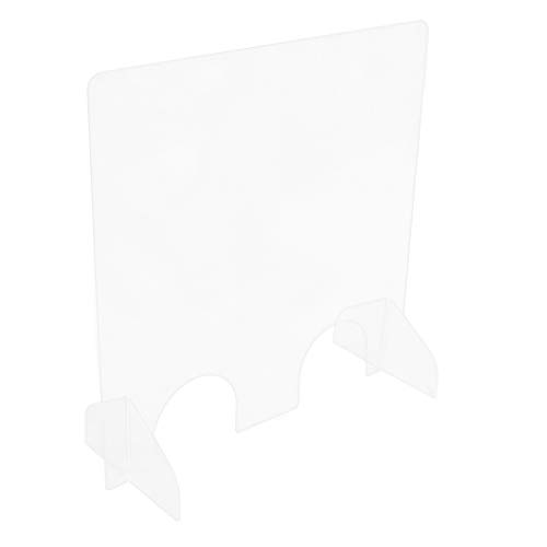 Teak Isle Nail Salon Acrylic Sneeze Guard Barrier - 1/4' Protective Plexiglass - 23.5' W x 23.5' H