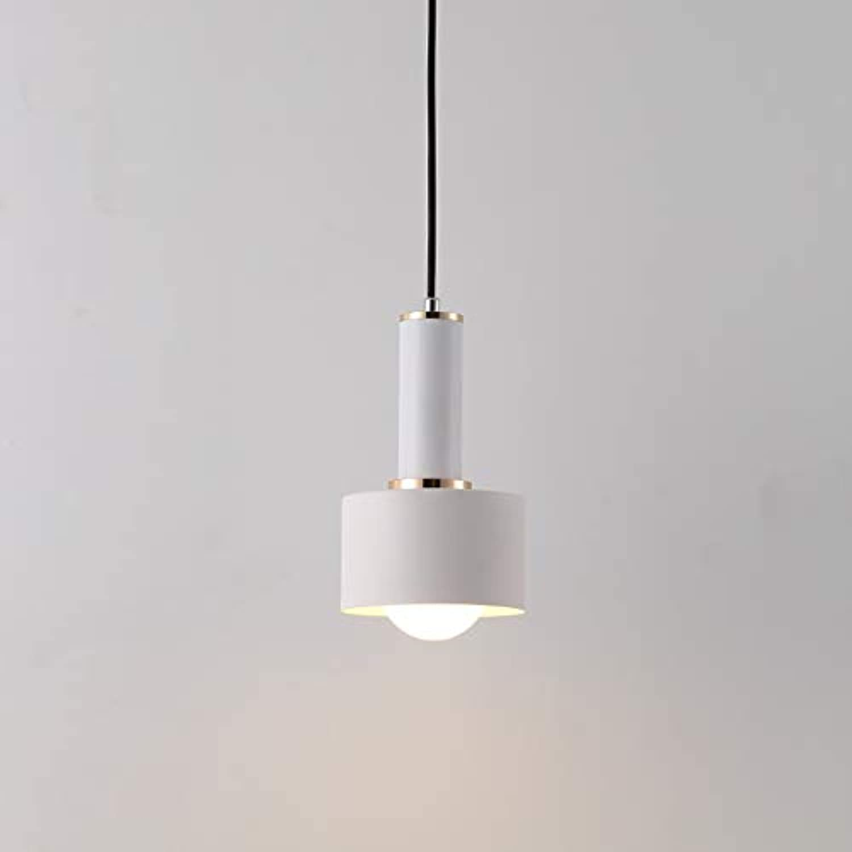 YAYONG Pendant Light Modern Minimalist Macaron Chandelier Creative Cafe Bar Chandeliers Wrought Iron Lamps,Weiß2