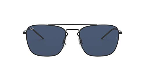 Ray-Ban 0RB3588 Occhiali da Sole, Marrone (Rubber Black), 55 Uomo