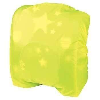 Housse anti-pluie pour cartable en nylon jaune