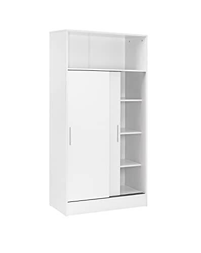 Buyqualia Armario despensa hogar Multiusos de Gran Capacidad con Puertas correderas en Color Blanco