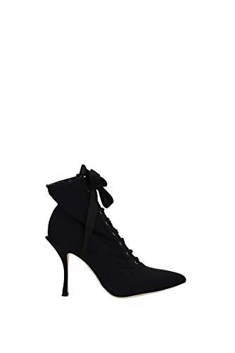 Dolce&Gabbana Women Lori Heeled Ankle Boots Nero 6 US - Size: 10 US