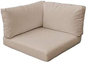 TK Classics 010CUSHION-CORNER-WHEAT Cushions Patio Furniture, Wheat