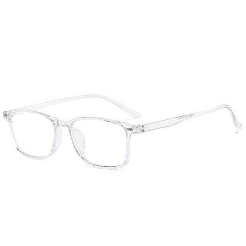 Suertree Blaulichtfilter Distanz Brille Leichte Kurzsichtige Brille Mode Myopia Brillen für Damen Herren Clear -3.5 Dioptrien