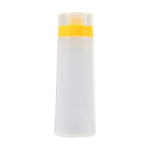 4-Loch Soßenflaschen Squeezy Saucenspender Condiment Flasche Gewürzspender für Ketchup Jam Mayonnaise Olivenöl, gelb/rot(Yellow)