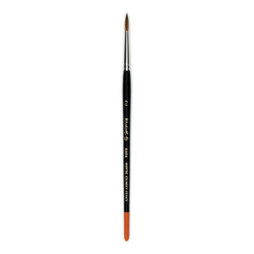 Raphael Kolinsky Sable, Watercolor Brush, Fine Point, Series 8404, Round, Size 02