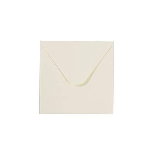 Vaessen Creative Florence Enveloppes, Petit Carré, Ivoire, pour Cartes, Ensemble de 5, Cartes Assorties Disponibles