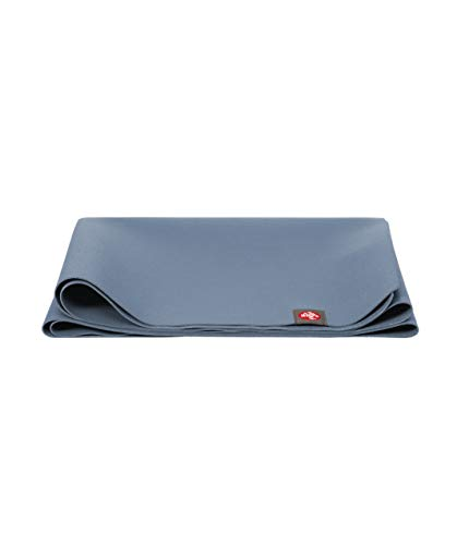 Manduka Tapis de Yoga de Voyage EKO Superlite - 180 cm antidérapant, Tapis d'exercice léger pour Le Yoga et Le Pilates (Storm)