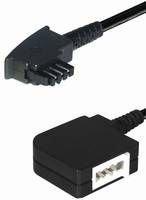 MANAX® telefoonkabel verlenging 15,0m | TAE N-stekker - TAE N-koppeling, 6,0 m, 4-polig.