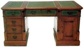 Kunibert Antiker Schreibtisch Barock Chippendale Louis Seize Renaissance Rokoko Sekretär Farbe: Eiche Schreibtisch Länge150xHöhe90xBreite60cm