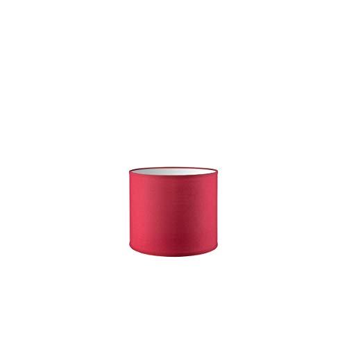 Lampenschirm rund | Bling | Geeignet Für Pendellampe Stehlampe Tischlampe Wandlampe Deckenlampen besteht aus Baumwolle Für E27 Fassung Durchmesser 20cm Höhe 17cm Rot Für alle Innenraumen