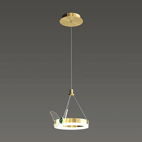 NAMFXH Candelabro simple nórdico Lámpara colgante de mariposa creativa Lámpara de techo colgante de hierro Lámpara de decoración con fuente de luz LED tricolor colgante Luminaria Bar Restaurante Ilumi