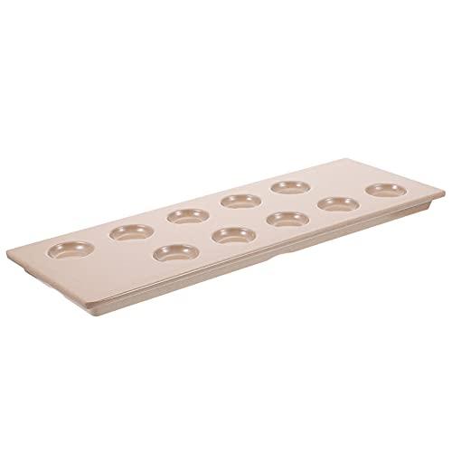 PIXNOR Bandeja de Huevos Endiablados Platos de Escargot Platos de Setas de Caracol Vajilla de Melamina para Albóndigas Bandeja de Cocina Bandeja de Servicio Rosa