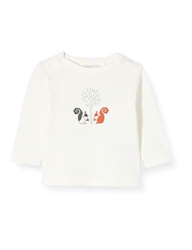 Noppies Unisex Baby U ls Amikam T-Shirt, Elfenbein (Whisper White P198), (Herstellergröße: 80)