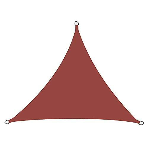 Toldo de vela de 3 x 3 m (10 x 10 x 10 pies), tela permeable pérgolas cubierta superior, para patio al aire libre, césped, jardín, patio, patio, toldo carmesí